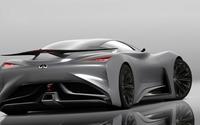 2014 Silver Infiniti Vision Gran Turismo concept back view wallpaper 1920x1080 jpg