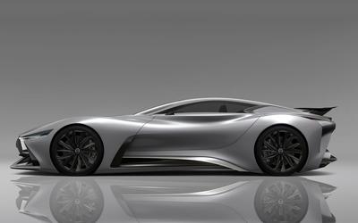 2014 Silver Infiniti Vision Gran Turismo concept side view wallpaper
