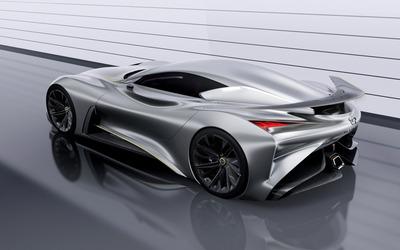 2014 Silver Infiniti Vision Gran Turismo concept top view wallpaper