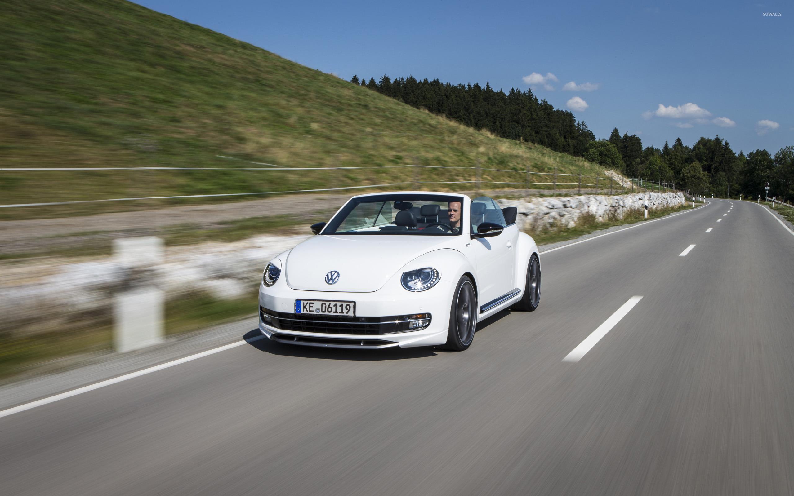 2014 white abt volkswagen beetle cabrio wallpaper car