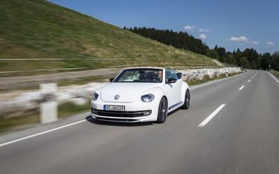 2014 White ABT Volkswagen Beetle Cabrio wallpaper
