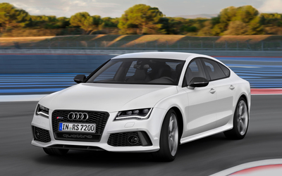 2014 White Audi RS7 Sportback quattro wallpaper