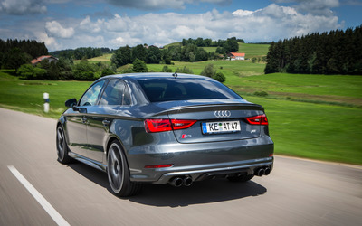 2015 ABT Audi S3 back view Wallpaper