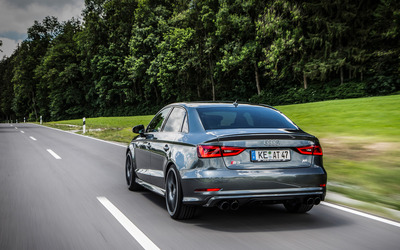 2015 ABT Audi S3 on forest road wallpaper