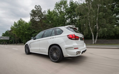 2015 ART BMW X5 on the road back side view wallpaper