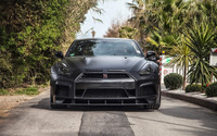 2015 Black Prior Design Nissan GT-R close-up wallpaper 1920x1200 jpg