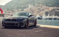2015 Black Prior Design Nissan GT-R front view wallpaper 2560x1440 jpg