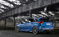 2015 Blue Ford Focus RS back view wallpaper 2560x1600 jpg