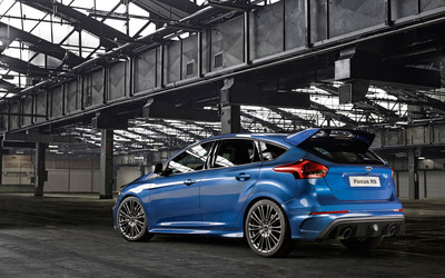 2015 Blue Ford Focus RS back view wallpaper