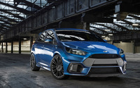 2015 Blue Ford Focus RS front view wallpaper 2560x1600 jpg
