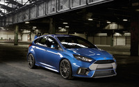 2015 Blue Ford Focus RS side view wallpaper 2560x1600 jpg