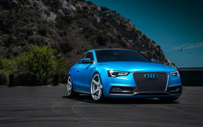2015 Blue Vorsteiner Audi S5 front view wallpaper