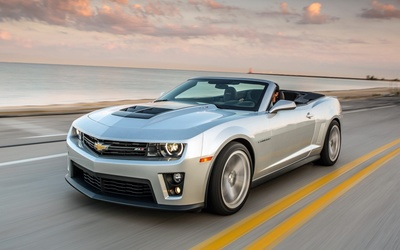 2015 Chevrolet Camaro ZL1 convertible on the road wallpaper