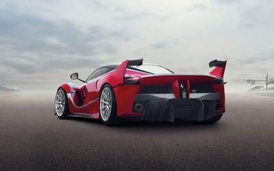 2015 Ferrari FXX back view wallpaper