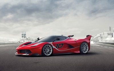2015 Ferrari FXX front side view wallpaper