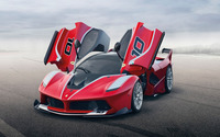 2015 Ferrari FXX with doors open wallpaper 2560x1600 jpg