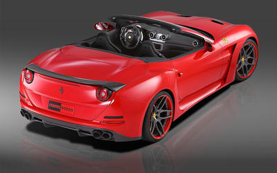 2015 Novitec Rosso Ferrari California back side top view wallpaper