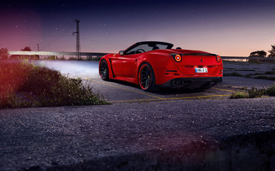 2015 Novitec Rosso Ferrari California back side view wallpaper