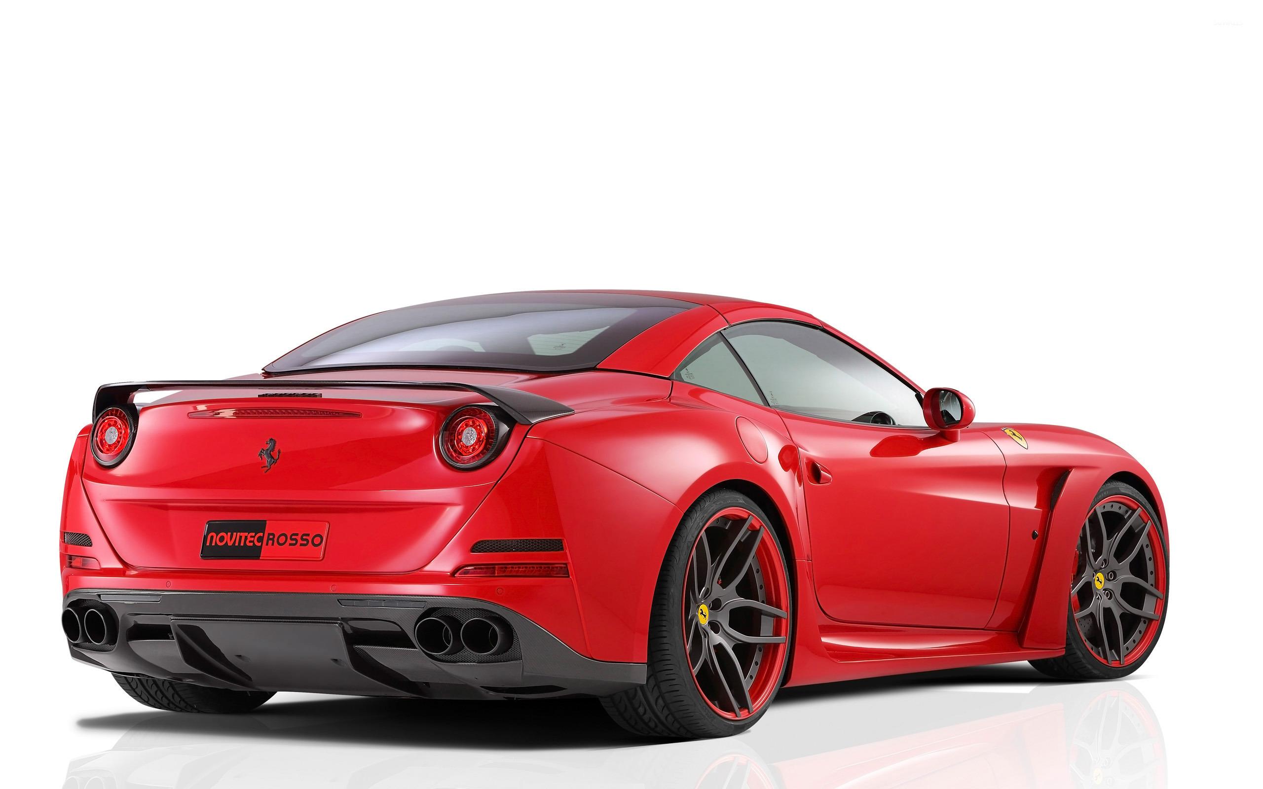 2015 Novitec Rosso Ferrari California Back View Wallpaper Car