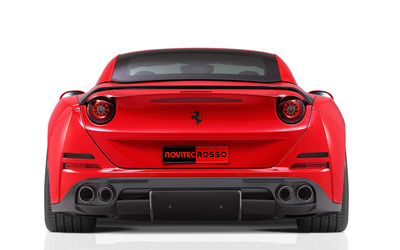 2015 Novitec Rosso Ferrari California back view close-up wallpaper