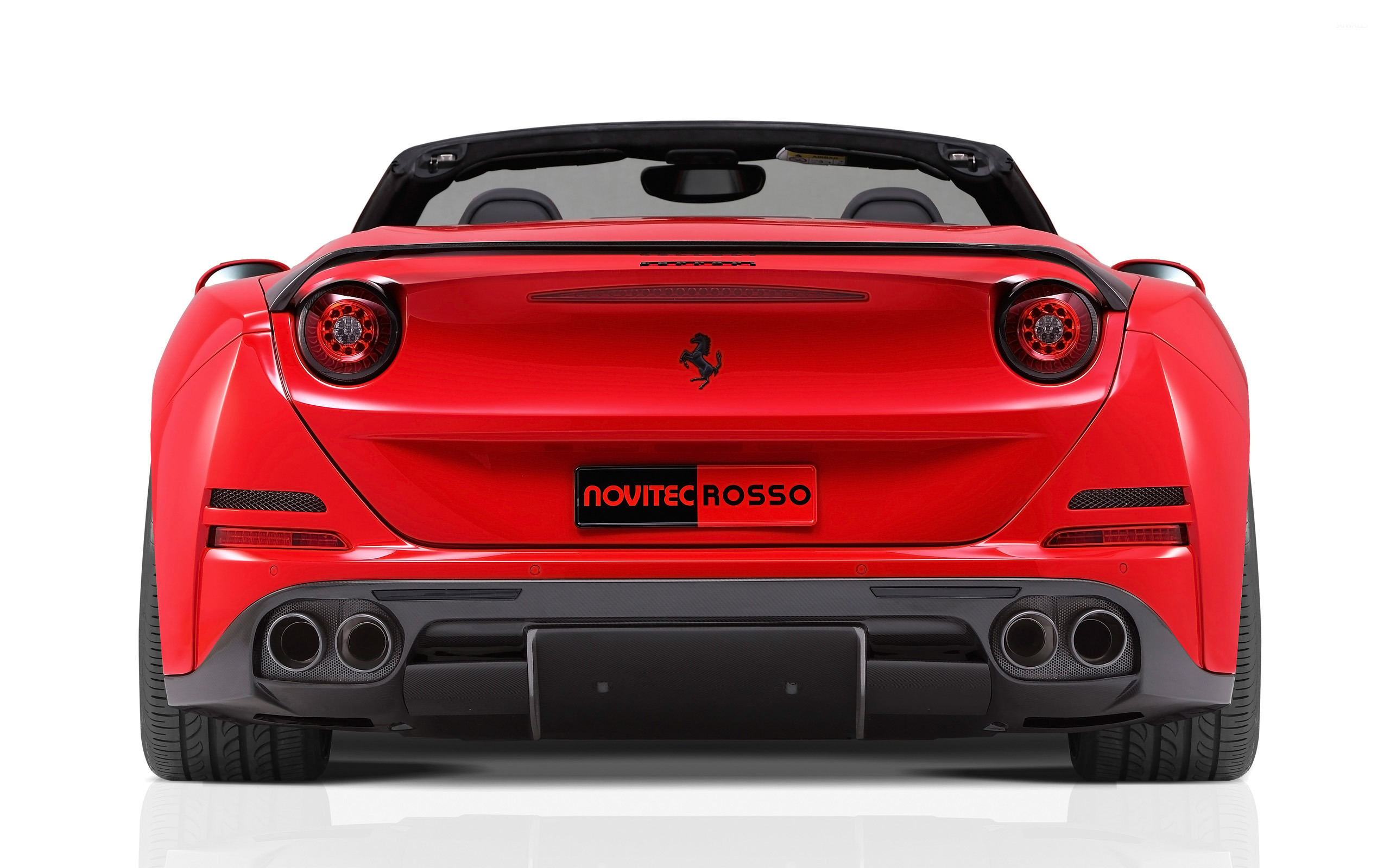 2015 Novitec Rosso Ferrari California Back View Close Up Wallpaper