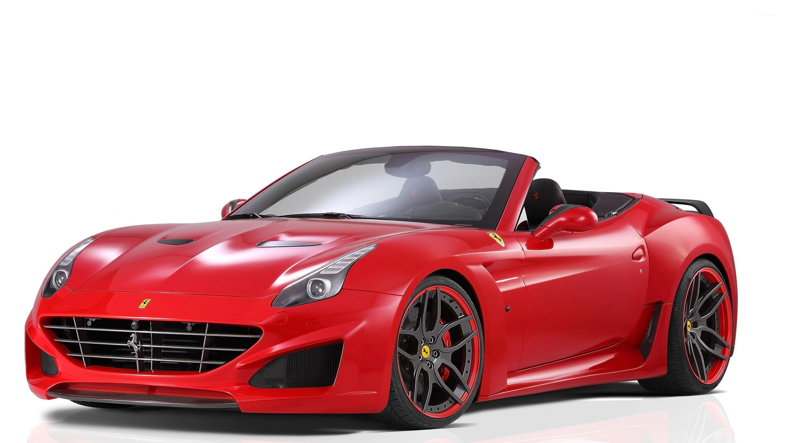 2015 Novitec Rosso Ferrari California convertible side ...