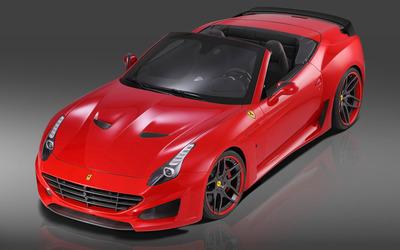 2015 Novitec Rosso Ferrari California convertible top view wallpaper