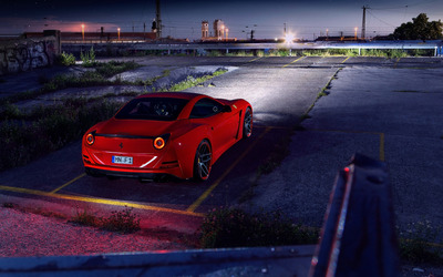 2015 Novitec Rosso Ferrari California parked wallpaper