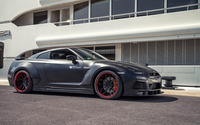 2015 Prior Design Nissan GT-R near a building wallpaper 1920x1200 jpg