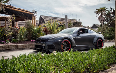 2015 Prior Design Nissan GT-R side view on the road wallpaper