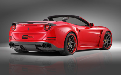 2015 Red Novitec Rosso Ferrari California back side view wallpaper