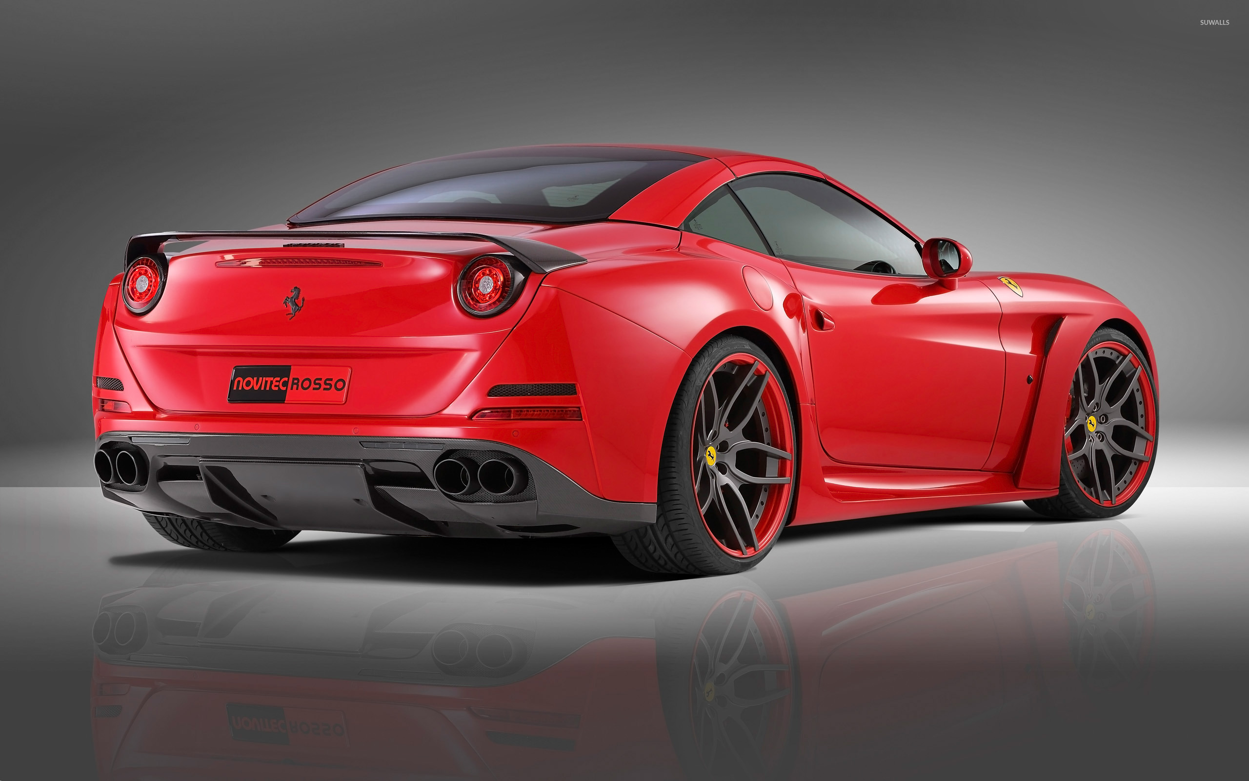 2015 Red Novitec Rosso Ferrari California back view ...