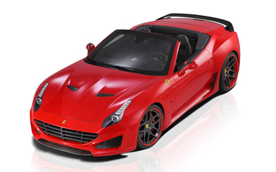 2015 Red Novitec Rosso Ferrari California convertible top view wallpaper