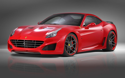 2015 Red Novitec Rosso Ferrari California front side view wallpaper