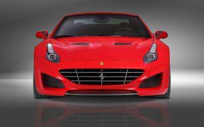 2015 Red Novitec Rosso Ferrari California front view wallpaper