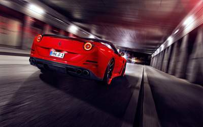 2015 Red Novitec Rosso Ferrari California in a tunnel wallpaper