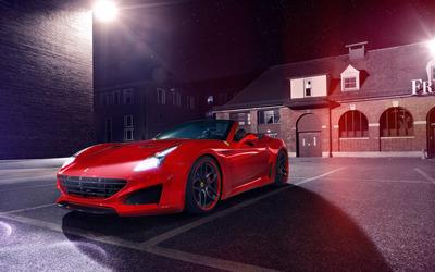 2015 Red Novitec Rosso Ferrari California parked wallpaper