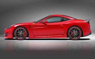 2015 Red Novitec Rosso Ferrari California side view wallpaper