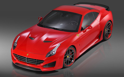 2015 Red Novitec Rosso Ferrari California top view wallpaper