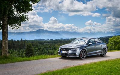 2015 Silver ABT Audi S3 Wallpaper