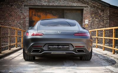 2015 Silver Mcchip-DKR Mercedes-AMG back view Wallpaper