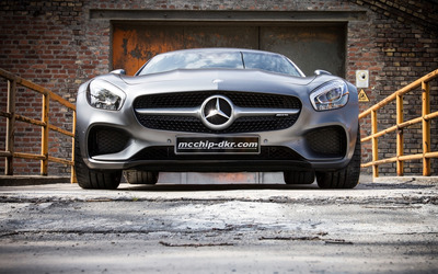 2015 Silver Mcchip-DKR Mercedes-AMG close-up wallpaper