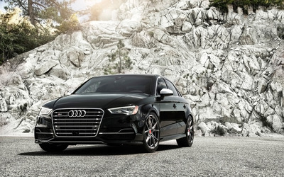 2015 Vorsteiner Audi S3 front view close-up wallpaper