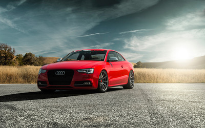 2015 Vorsteiner Audi S5 front view wallpaper