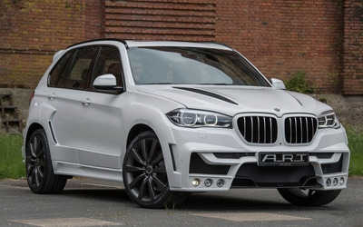 2015 White ART BMW X5 wallpaper