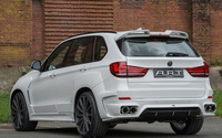 2015 White ART BMW X5 back side view wallpaper 1920x1080 jpg