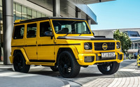 2015 Yellow DMC Mercedes-Benz G88 front view wallpaper 1920x1080 jpg