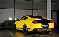 2015 Yellow GeigerCars Ford Mustang GT back view wallpaper 2560x1600 jpg