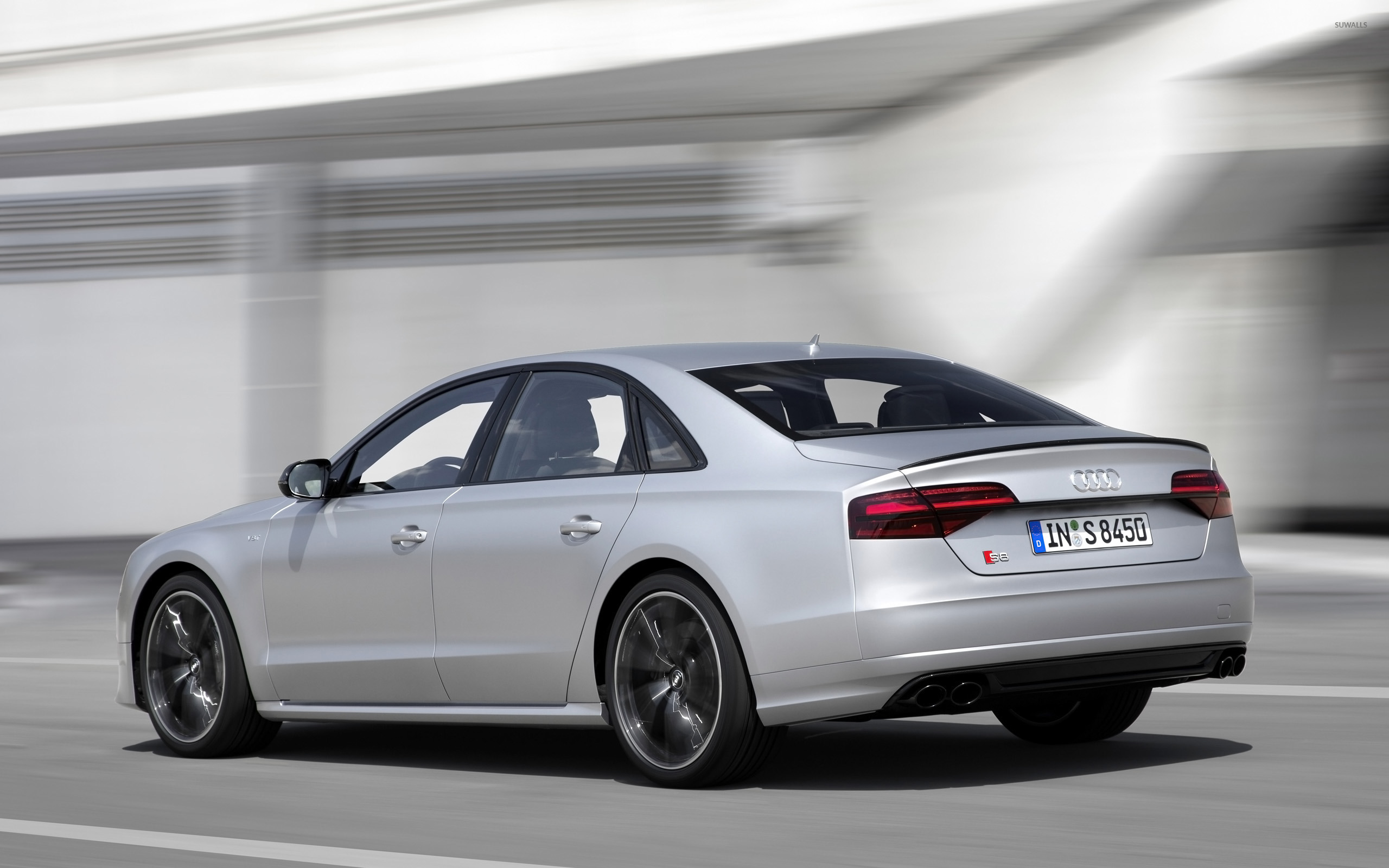 2016 Audi S8 Back Side View 2 Wallpaper Car Wallpapers 50554