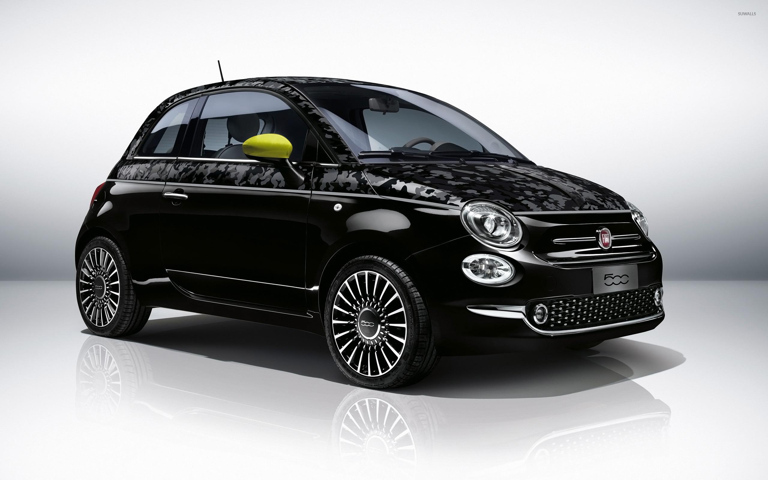 2016 black fiat 500 wallpaper car wallpapers 50218. Black Bedroom Furniture Sets. Home Design Ideas